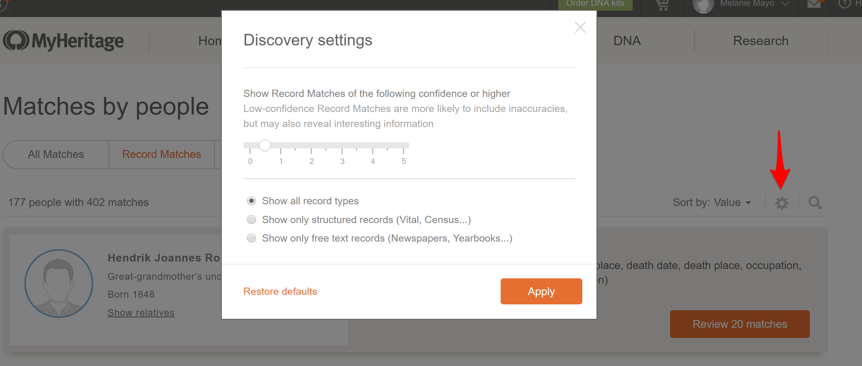 Discovery Settings