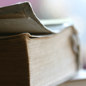 Family History Begins at the End of Your Comfort Zone - old book