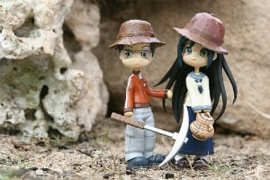 Image of toy figures of archeologists