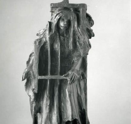 Alfred Laliberté Sainte-Élisabeth-de-Warwick, 1878 - Montreal, 1953 La Corriveau, from the series Trades, Customs and Legends of Yesteryear Between 1927 and 1931 Bronze 61 x 27.8 x 26.7 cm Collection Musée national des beaux-arts du Québec Photo : MNBAQ, Patrick Altman (1934.427)