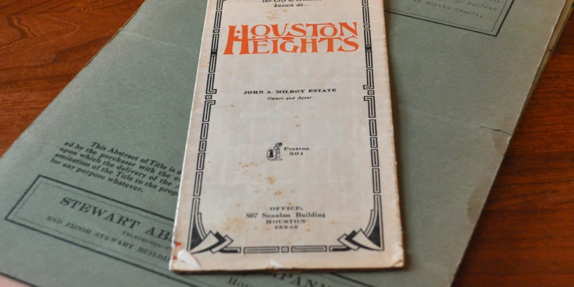 House documents dated from 1910-1924