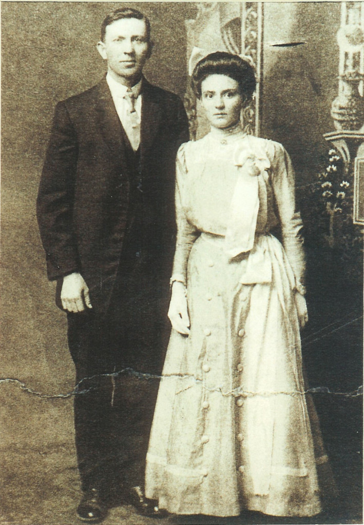 Rowland Mosey & Eliza Carriveau wedding - 1910