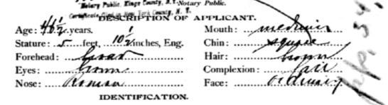 Ludwig Harburger Passport application