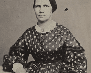 Unidentified woman, possibly a nurse, during Civil War