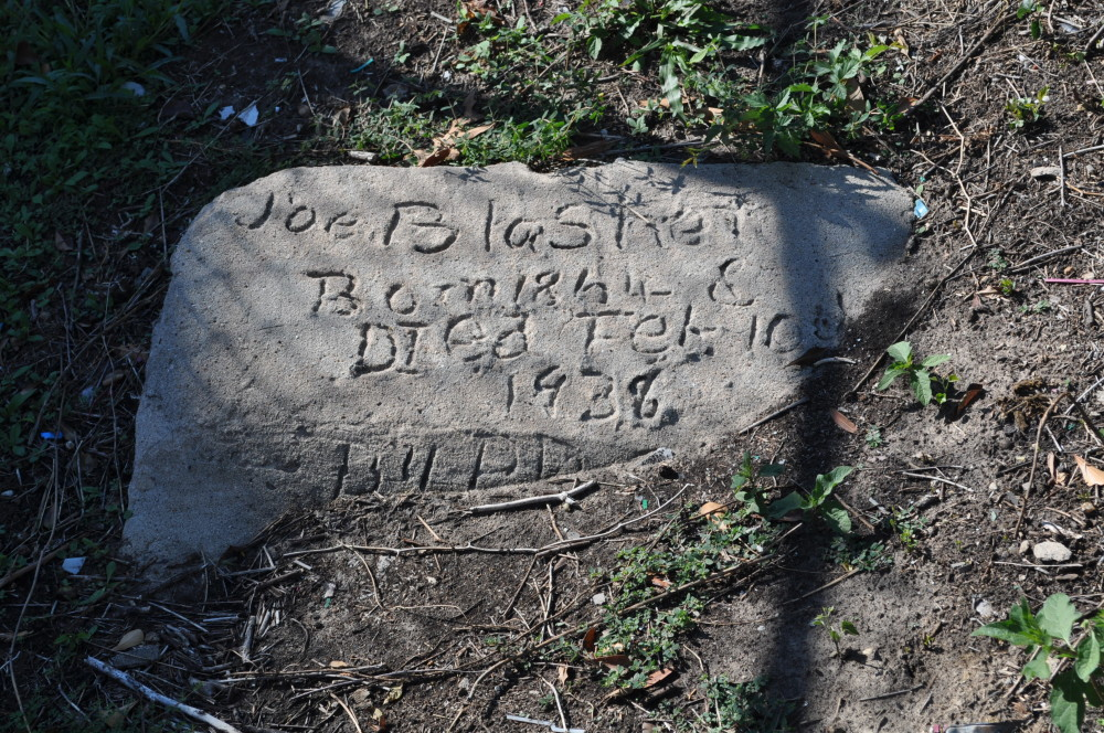 Olivewood Cemetery, Houston, Texas - The self-etched ones can be particularly hard to read.