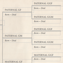 Family tree template finder free charts for genealogy for Family history charts templates
