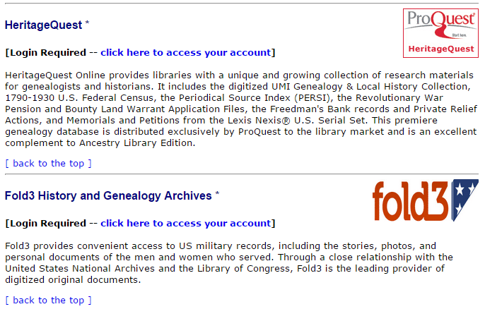 free access to sites like ancestry