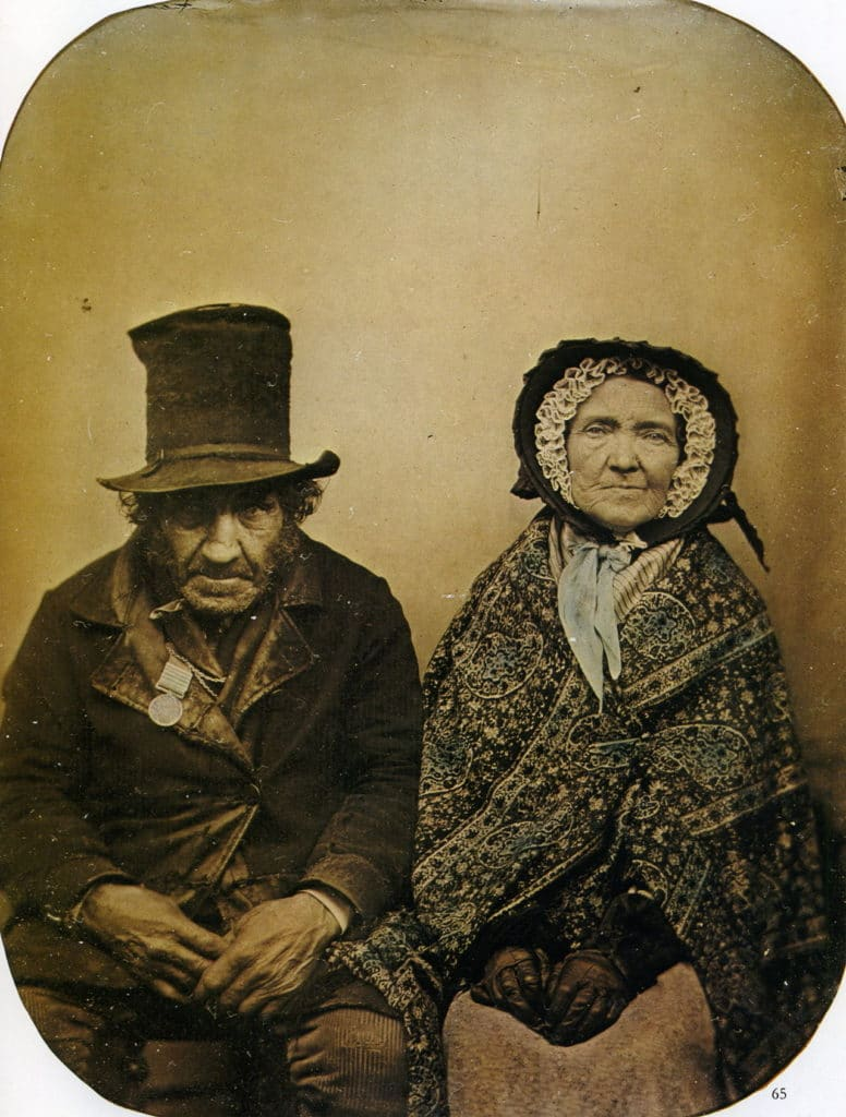 Anonyme Un vétéran et sa femme Ambrotype