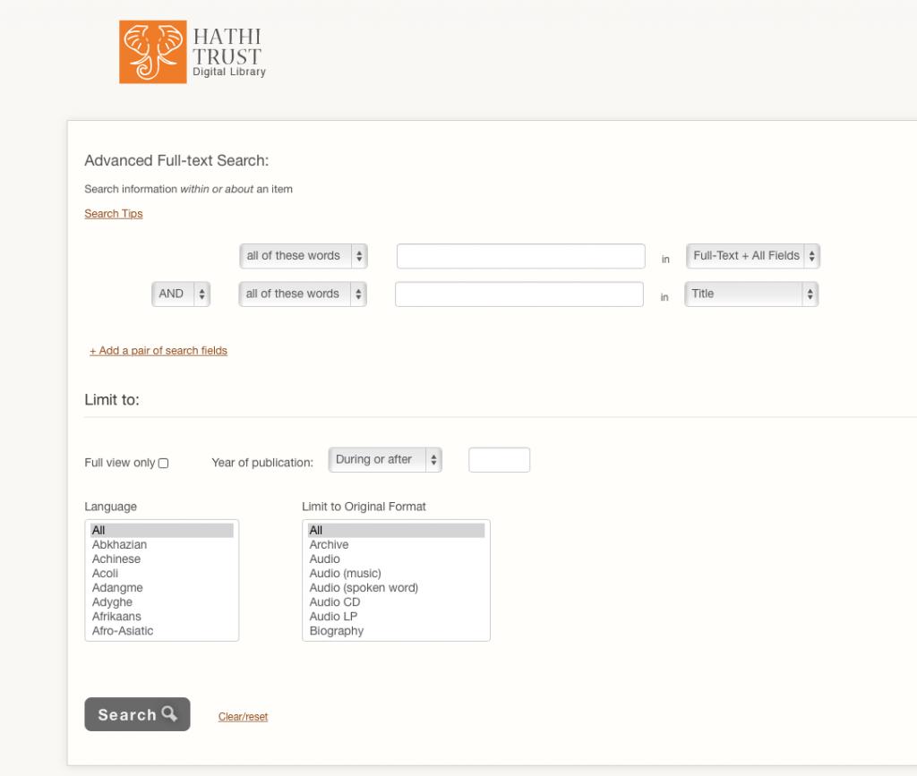 Search HathiTrust 2