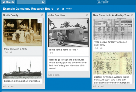 trello for genealogy