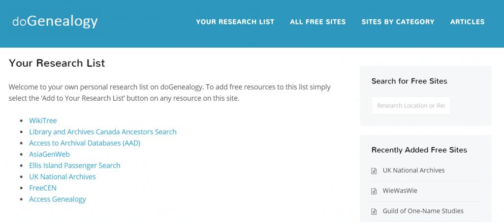 Research_List_Genealogy