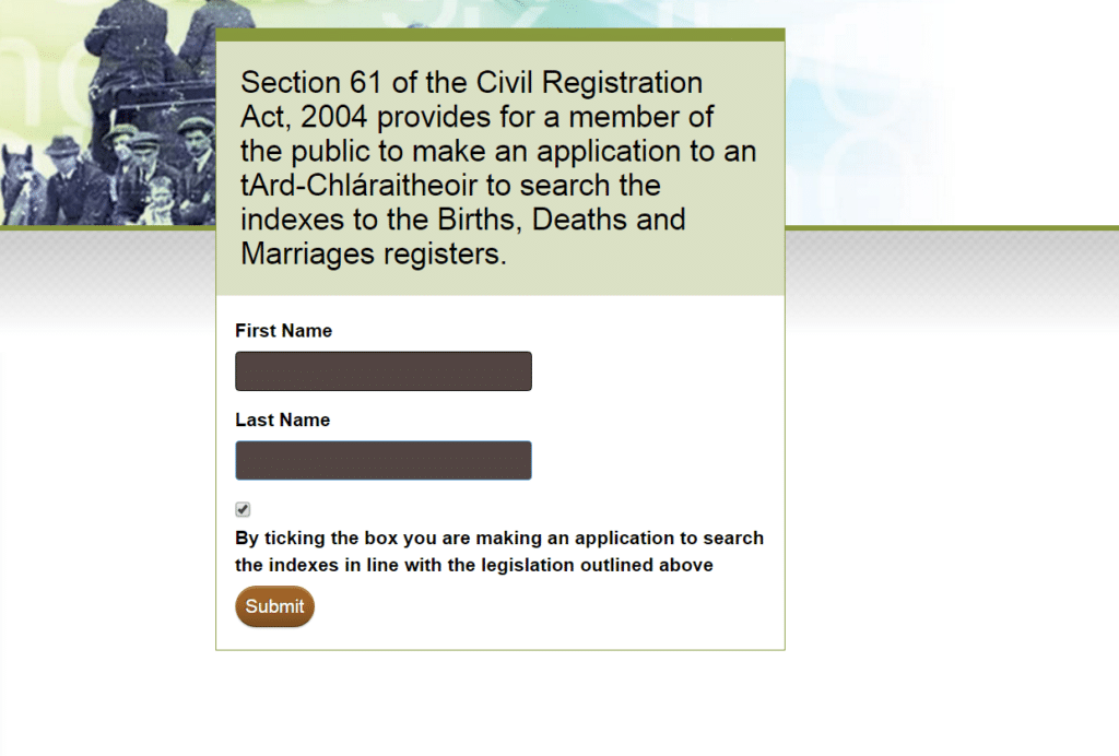Millions of Irish Birth, Marriage and Death Records are Now Online for Free - Register