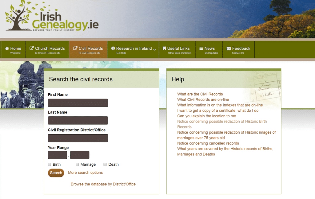 Millions of Irish Birth, Marriage and Death Records are Now Online for Free - Search