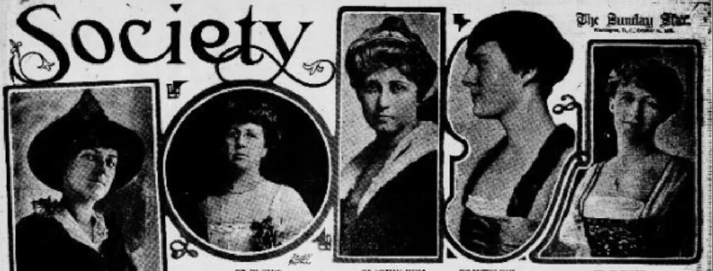Society Pages in Old Newspaper for Family History