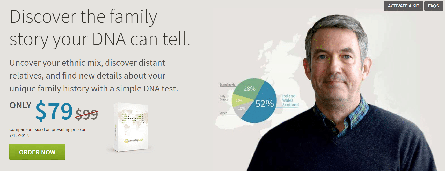 Ancestry DNA Coupon Discount Example