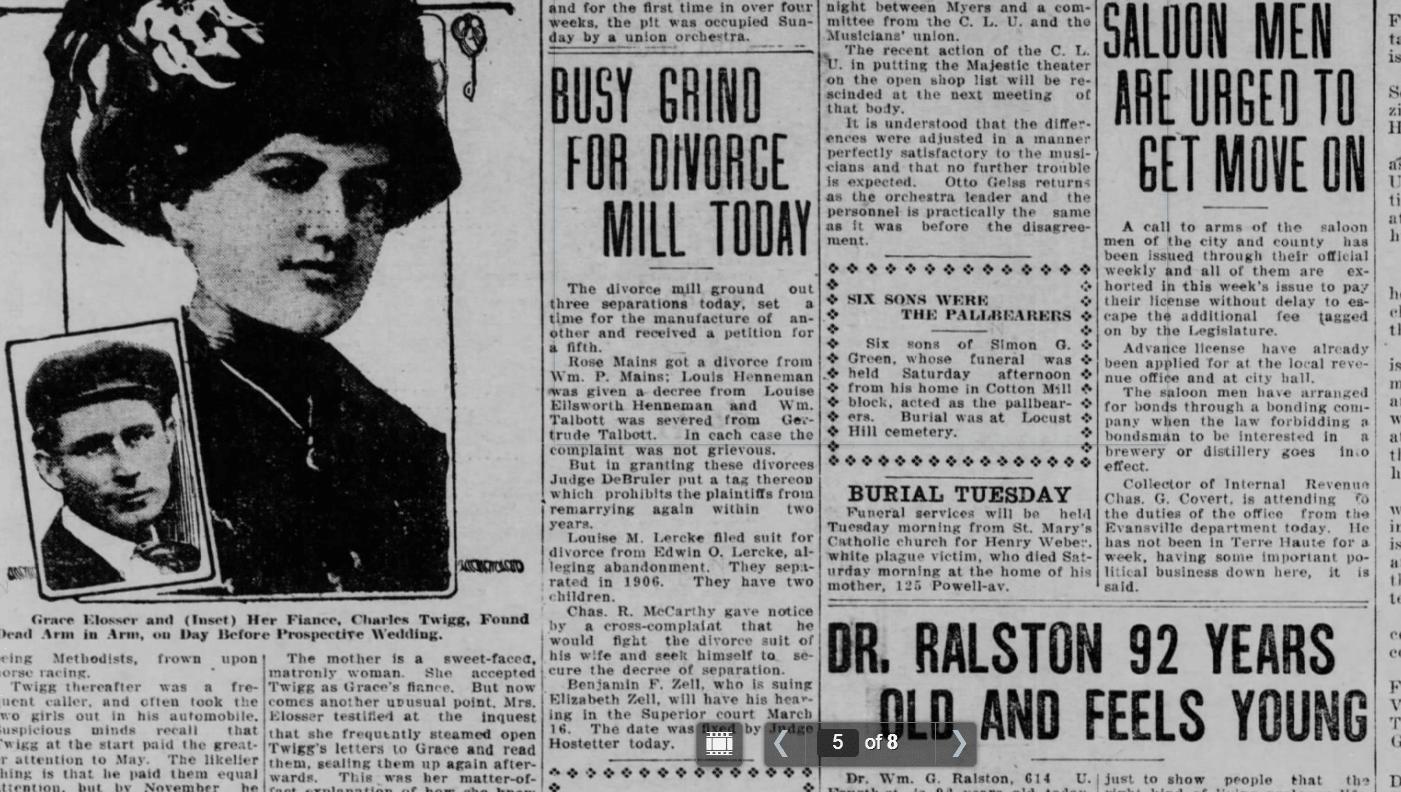Evansville Newspaper 1911