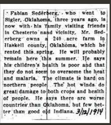 Beginner Genealogy Research Mistakes, newspaper clipping from 1914
