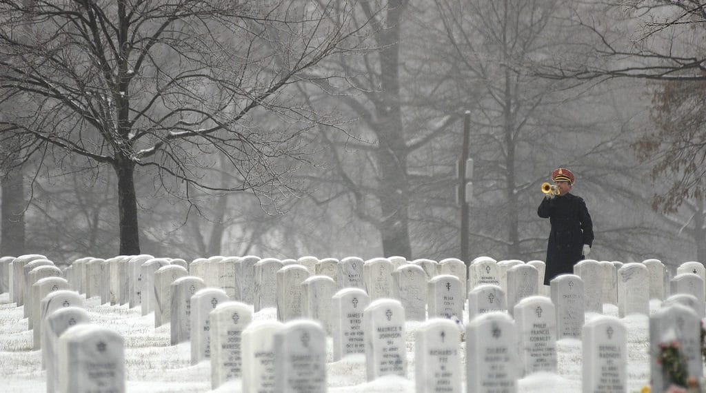 Bugler in Arlington Cemetery - This Life-Changing Experience Led Me to Volunteer My Genealogy Skills - You Could Too