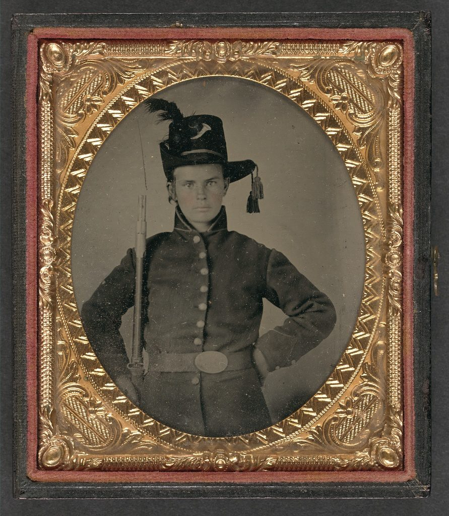 Offline Genealogy Reserach Help, Civil War soldier tintype