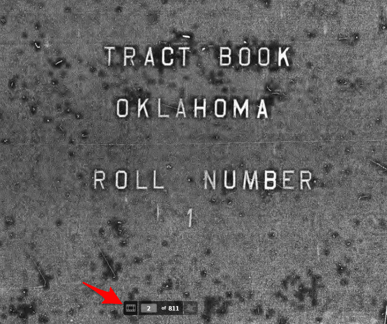 Tract Book for Oklahoma - Ancestry Browse Only Collection