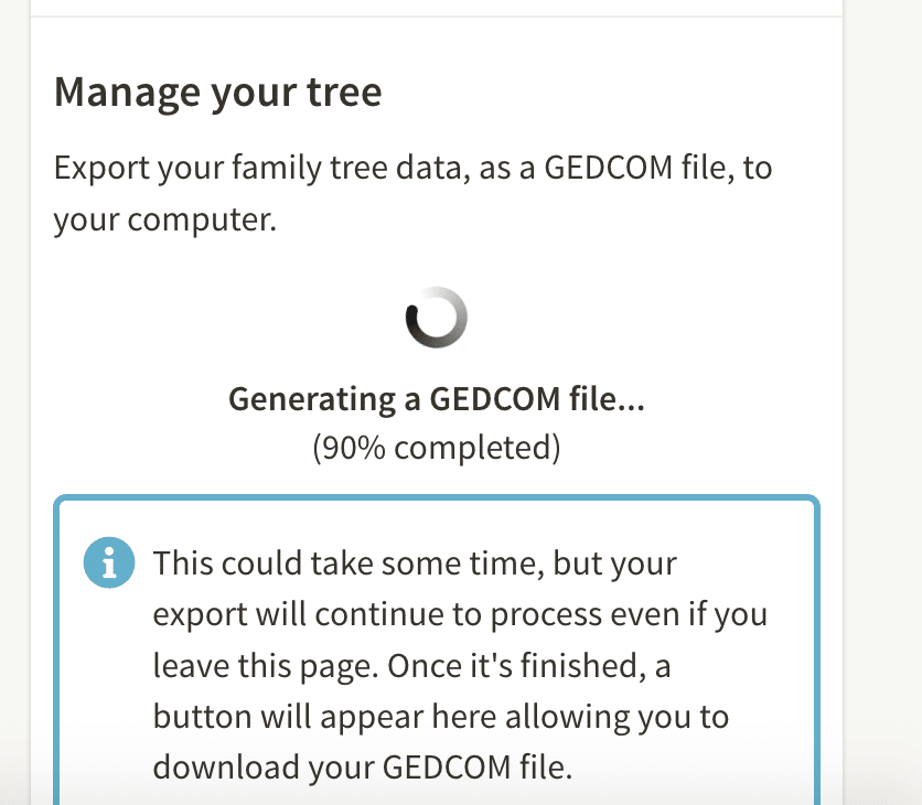 how to create a gedcom and move or share your family tree