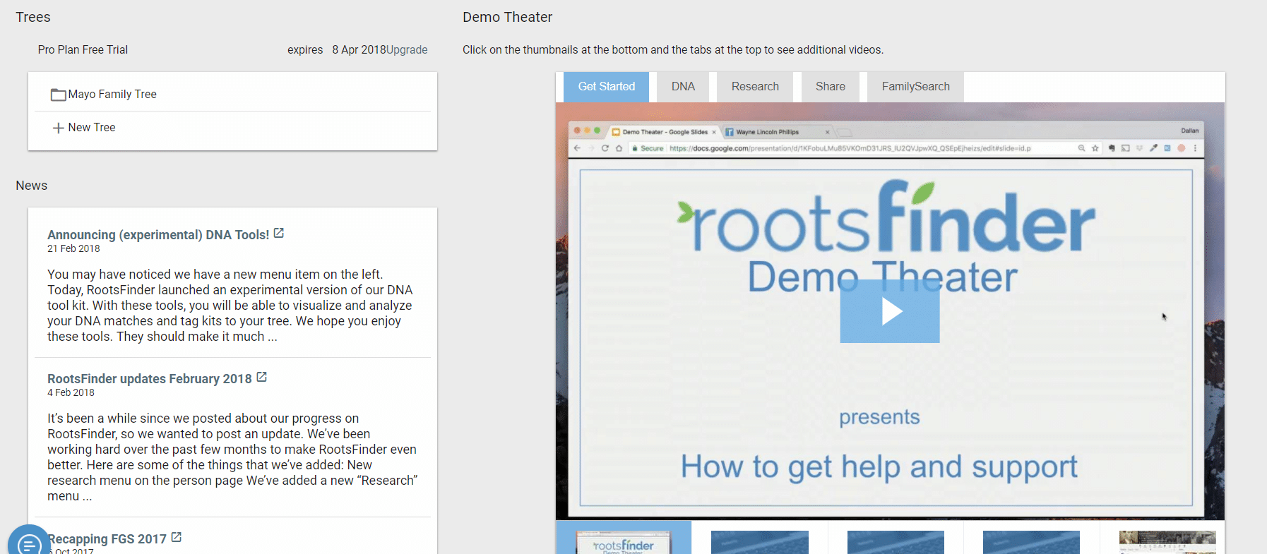 RootsFInder Family Tree Help Center