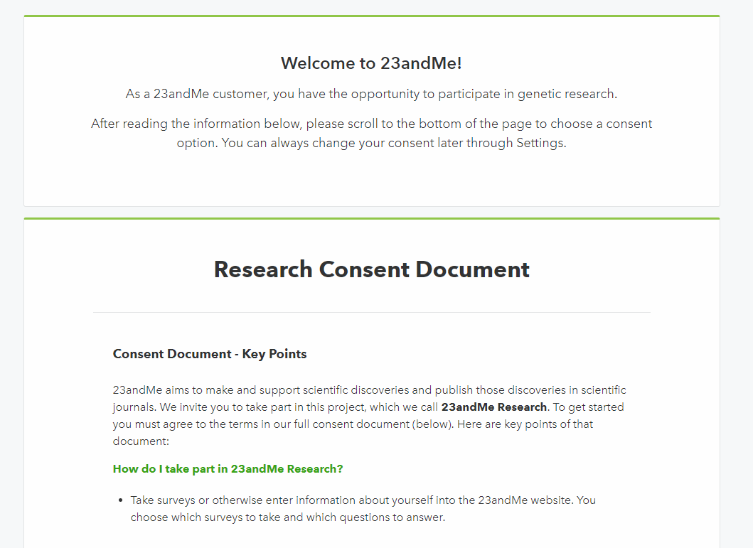 23andMe Research Consent Form