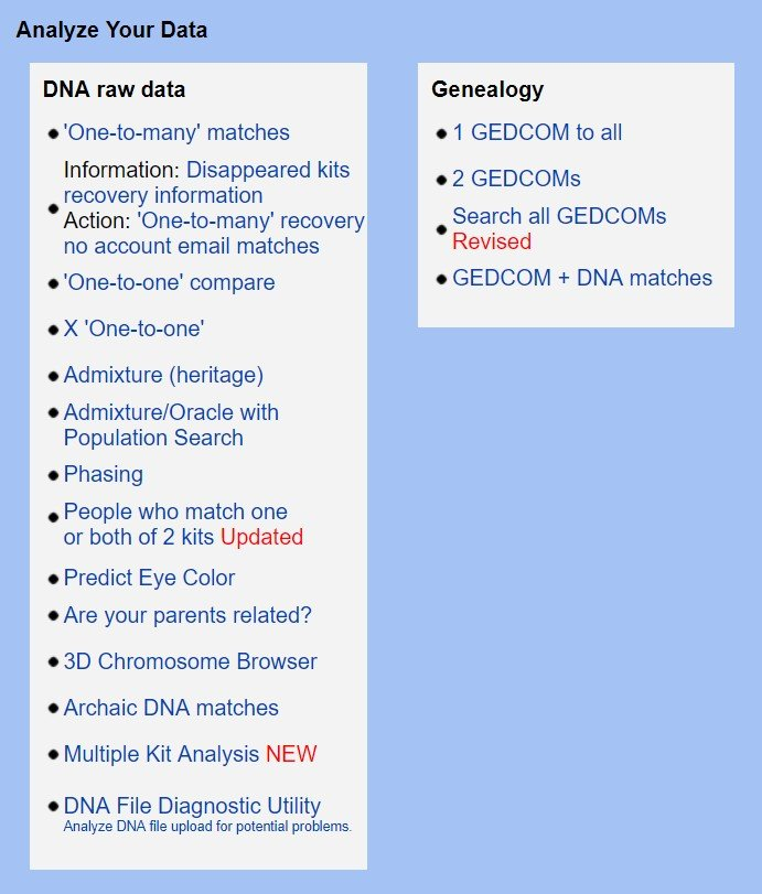 Using GEDmatch for Genealogy DNA Test Results, GEDmatch DNA Upload