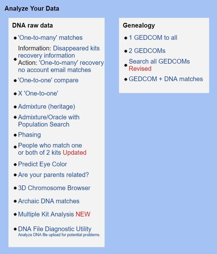 Using GEDmatch for Genealogy DNA Test Results, GEDmatch DNA Upload