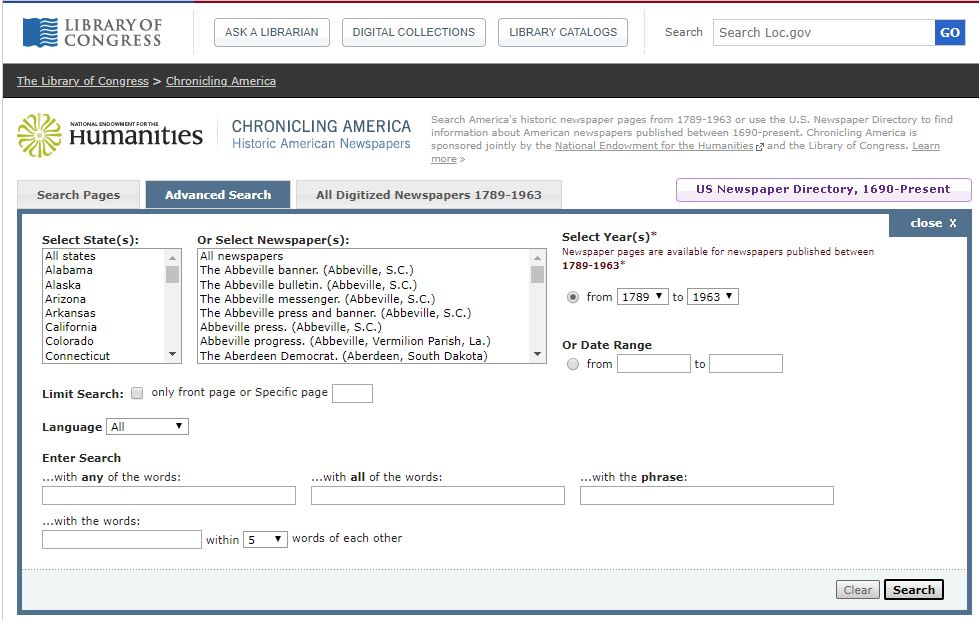 Criminal Records for Genealogy Research, Library of Congress