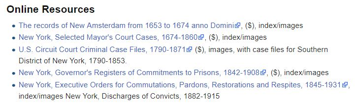 Criminal Records for Genealogy Research, NY courts