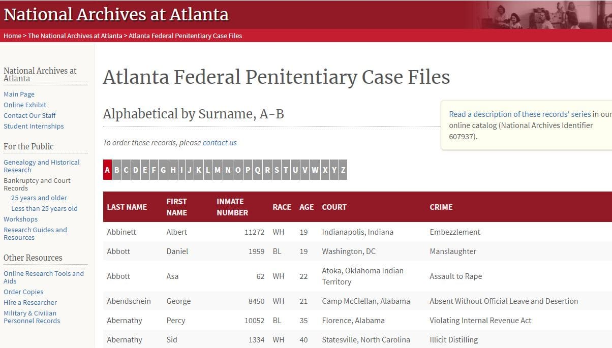 Criminal Records for Genealogy Research, National Archives