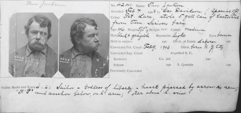 Criminal Records for Genealogy Research, mug shot