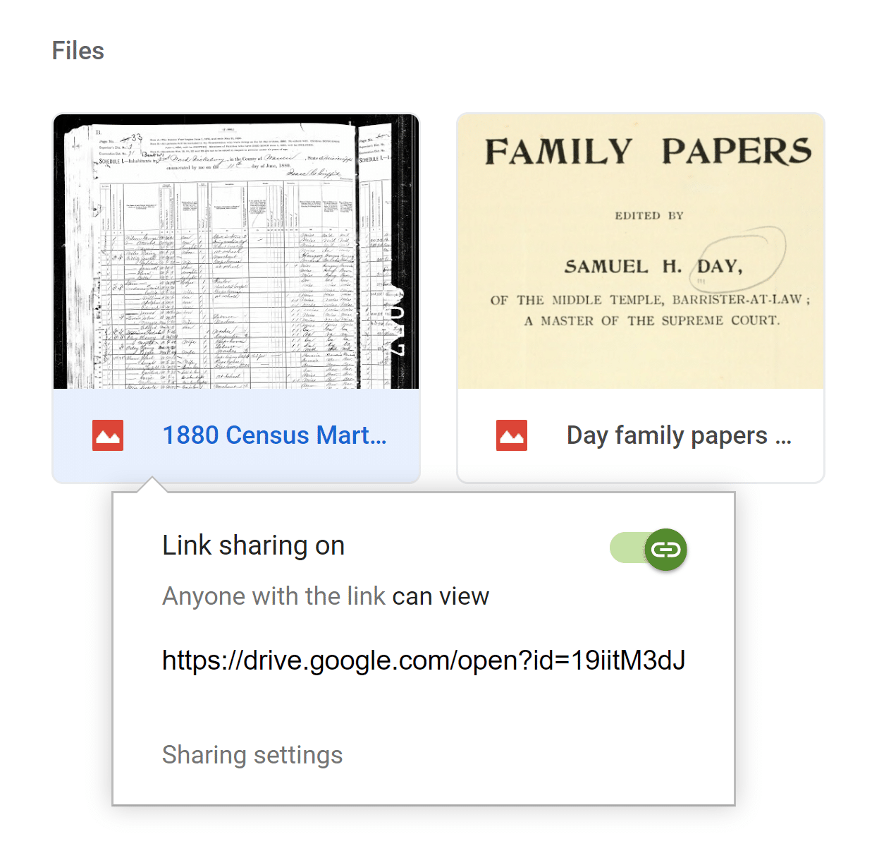 Create Shareable Link on Google Drive