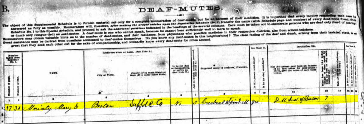 1880 DDD Schedule Moriarty - Deaf-Mute