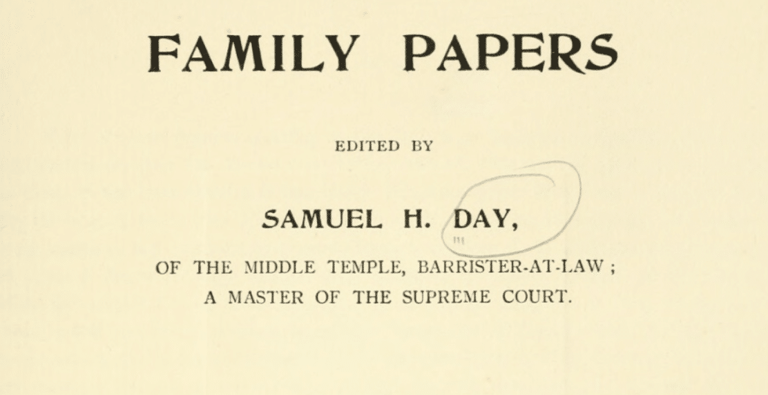 Day Family Papers