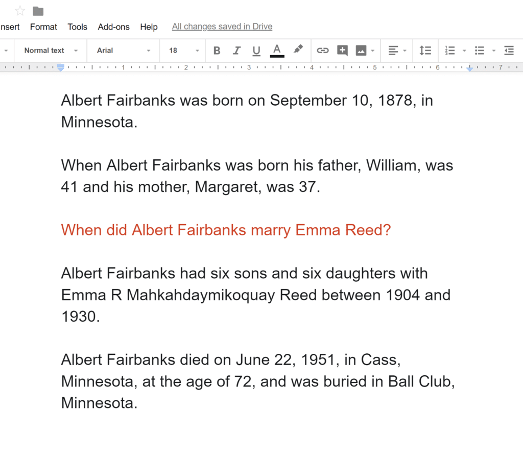 Ancestor Narrative Separated Out Google Docs