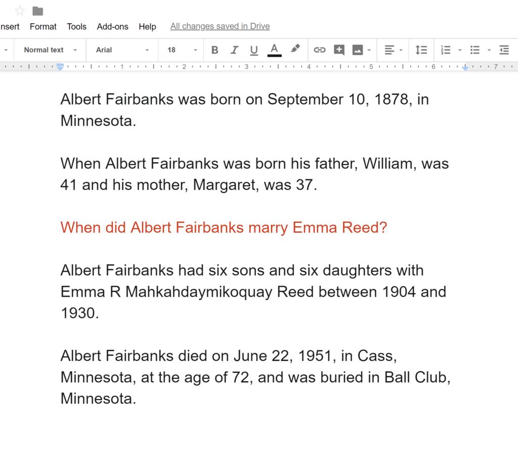 Ancestor Narrative Separated Out Google Docs