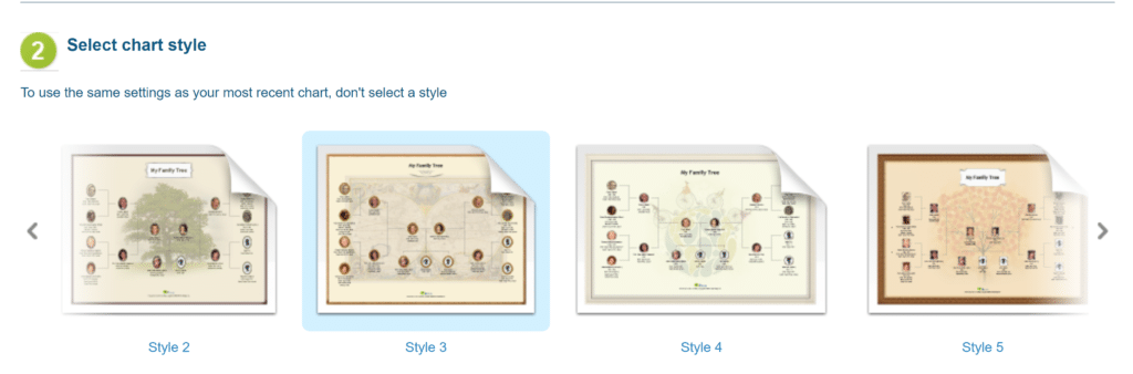 MyHeritage Family Tree Chart Styles to Choose From