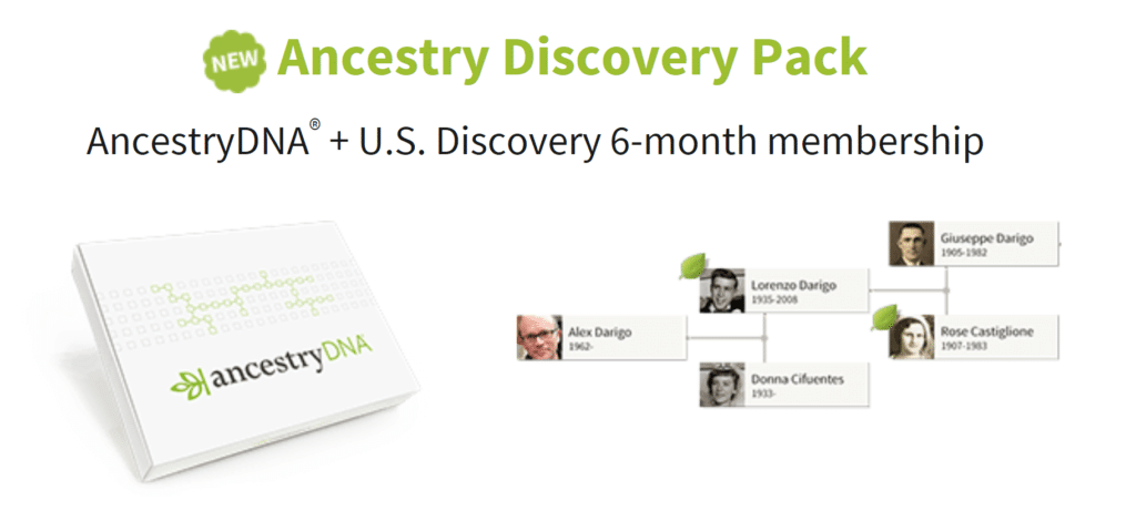 Ancestry Discovery Pack Sale Offer