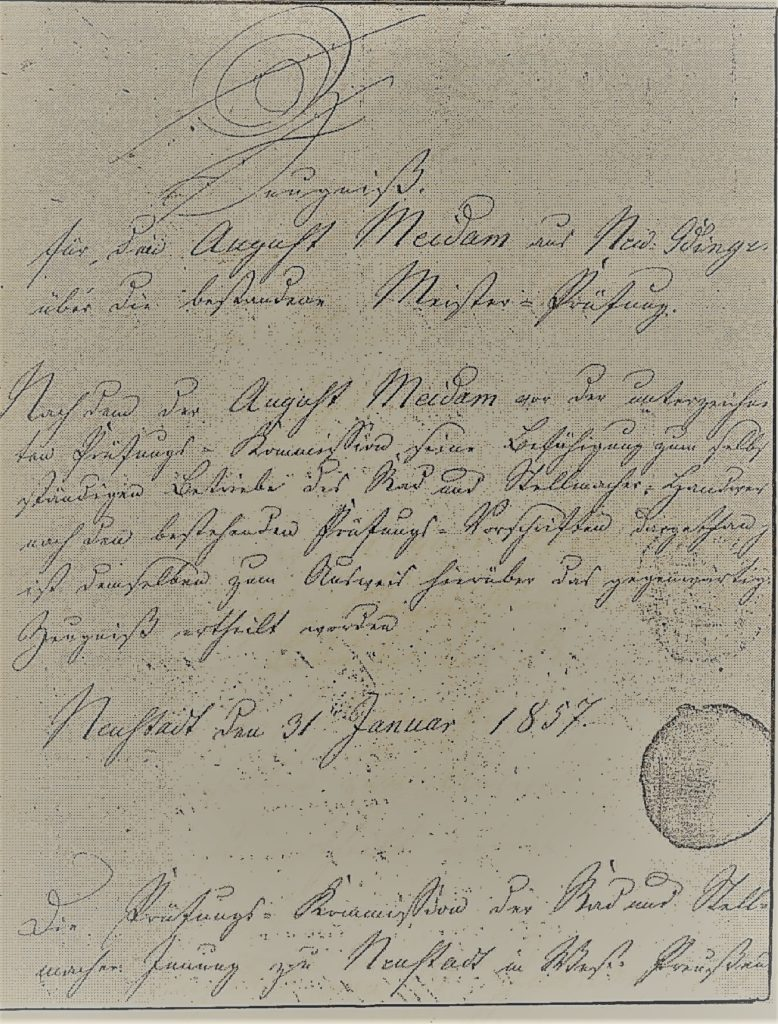 German trade certificate, genealogy research, occupational records for ancestors