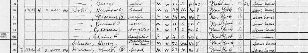 Genealogy organization, family group sheet, census Sohl 1940