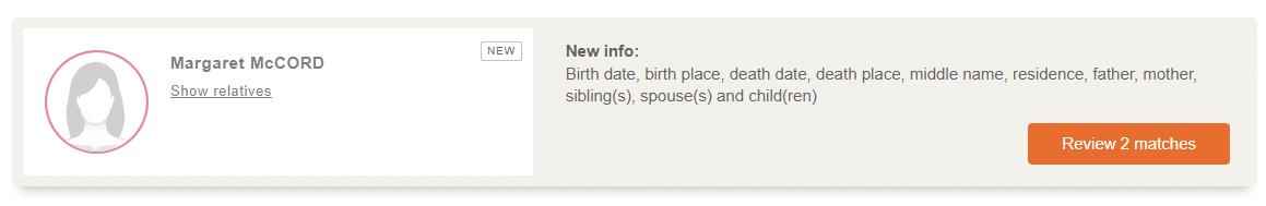 Ancestor Card