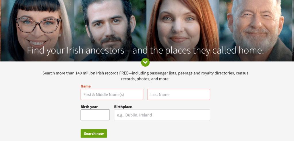 Ancestry Free Irish Genealogy Records Offer
