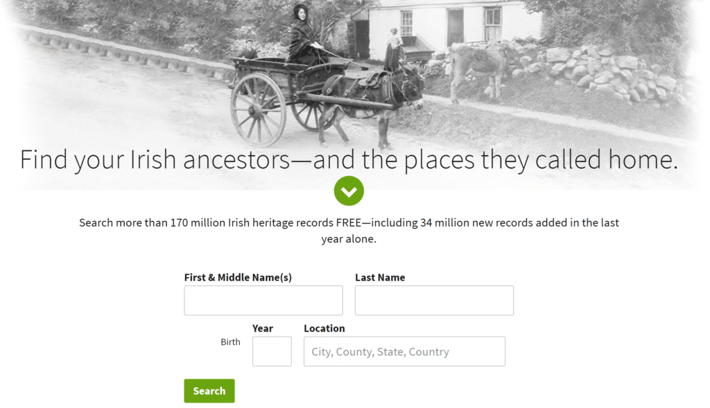 Free Irish Records for St. Patrick's Day at Ancestry