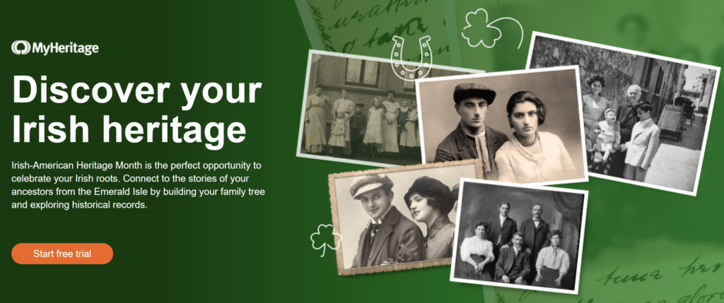 MyHeritage Free Irish Records Saint Patrick's Day