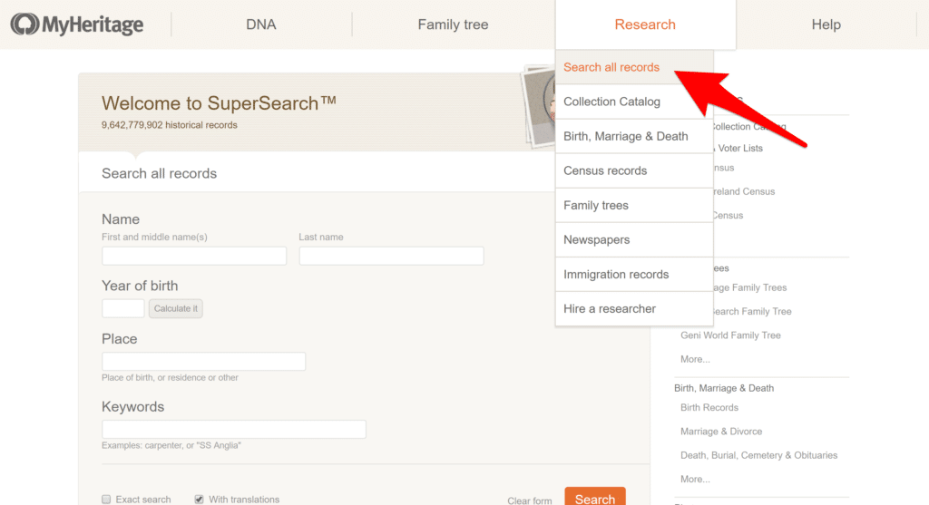 SuperSearch to Find Irish Records