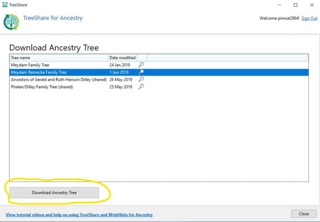 RootsMagic Back Up Ancestry Tree Download