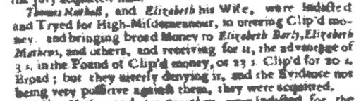 Genealogy criminal records, Thomas Nuthall Original