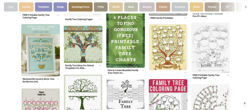 Free genealogy printables, pinterest family tree search
